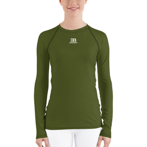WOMAN'S - Army Grenn ENVIOUSBODY RASH GUARD
