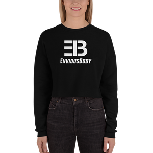 Woman's Enviousbody Fleece Crop Sweatshirt Big Collection