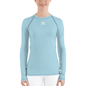 WOMAN'S - LIGHT BLUE ENVIOUSBODY RASH GUARD