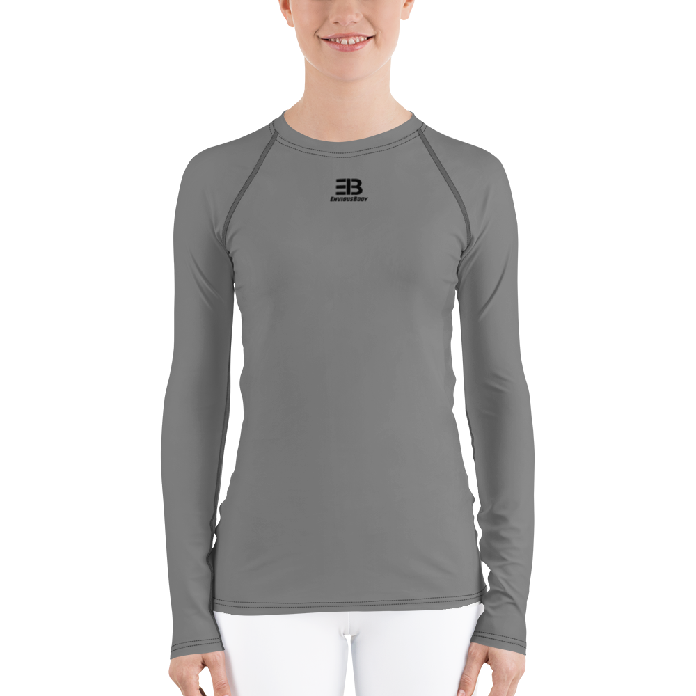 WOMAN'S - GREY ENVIOUSBODY RASH GUARD