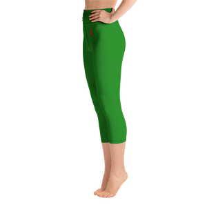 Woman's - Green EnviousBody Over Belly Button Capri Leggings