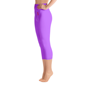 Woman's - Light Purple EnviousBody Belly Button Capri Leggings