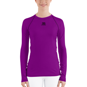 WOMAN'S - PURPLE ENVIOUSBODY RASH GUARD