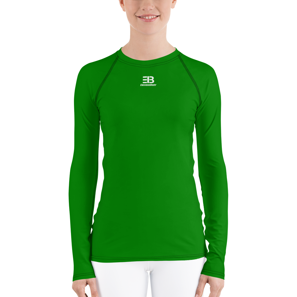 WOMAN'S - GREEN ENVIOUSBODY RASH GUARD