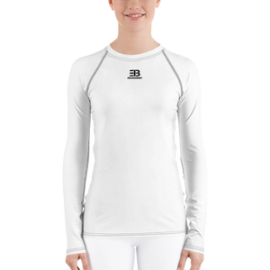 WOMAN'S - WHITE ENVIOUSBODY RASH GUARD