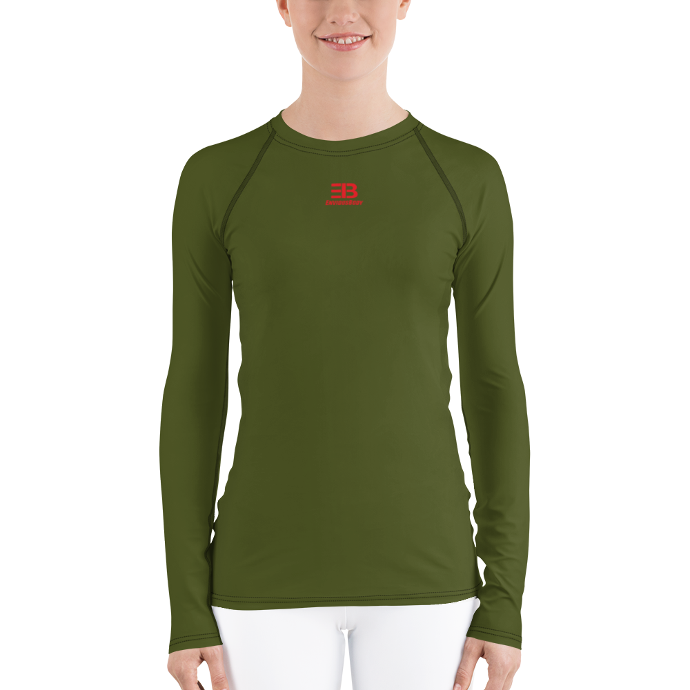 WOMAN'S - Army Green ENVIOUSBODY RASH GUARD