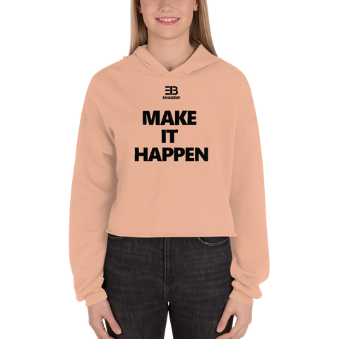 Woman's - Enviousbody Crop Hoodie Make It Happen Collection