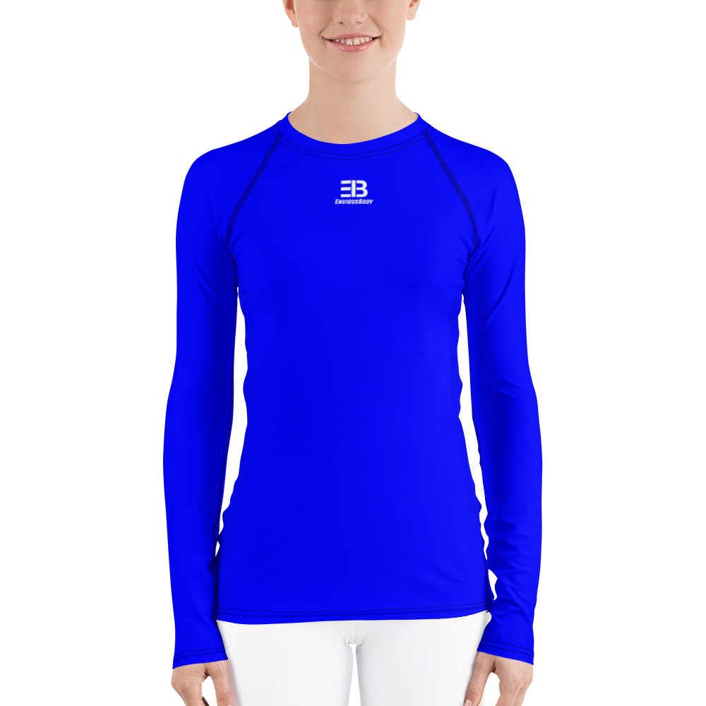 WOMAN'S - BLUE ENVIOUSBODY RASH GUARD