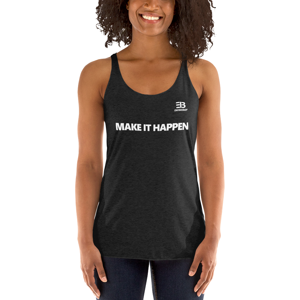 Woman's - Enviousbody Racerback Tank Top Fresh Look Make It Happen Collection