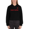 Image of Woman's - Enviousbody Crop Hoodie Fresh Look Make It Happen Collection