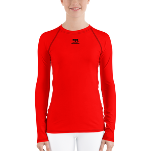 WOMAN'S - RED ENVIOUSBODY RASH GUARD