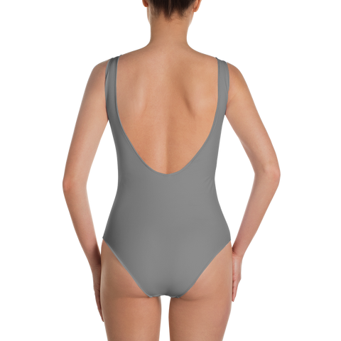 Dark Grey - One-Piece Swimsuit - ENVIOUS BODY