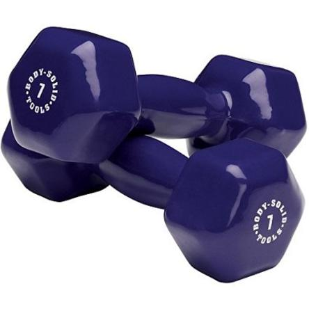 Body Solid - Dark Purple 7lb Vinyl Dumbell - ENVIOUS BODY