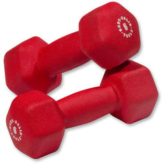 Body Solid - Red  6lb Neoprene Dumbell - ENVIOUS BODY