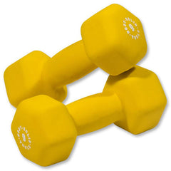 Body Solid - Yellow 9lb Neoprene Dumbell - ENVIOUS BODY