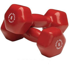 Body Solid - Red  6lb Vinyl Dumbell - ENVIOUS BODY