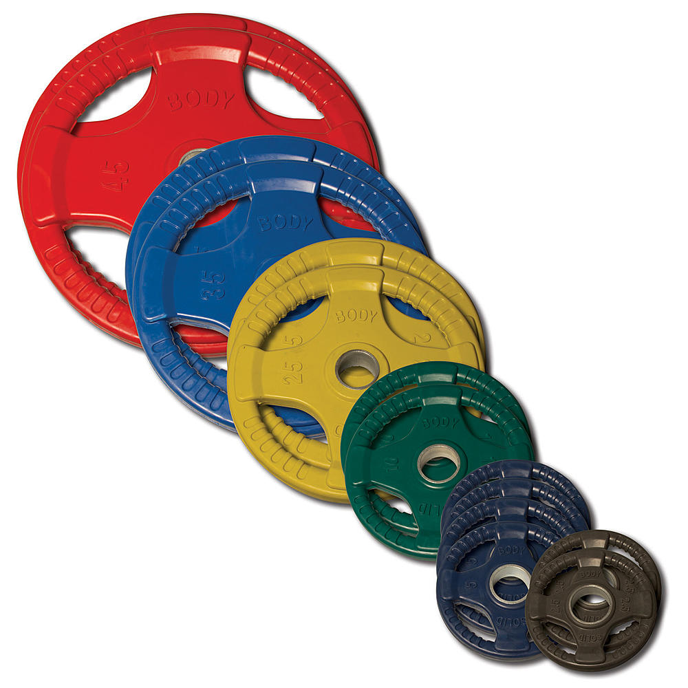 Body Solid - Colored Rubber/Hand Grip/Oly Plate 255LBS - ENVIOUS BODY