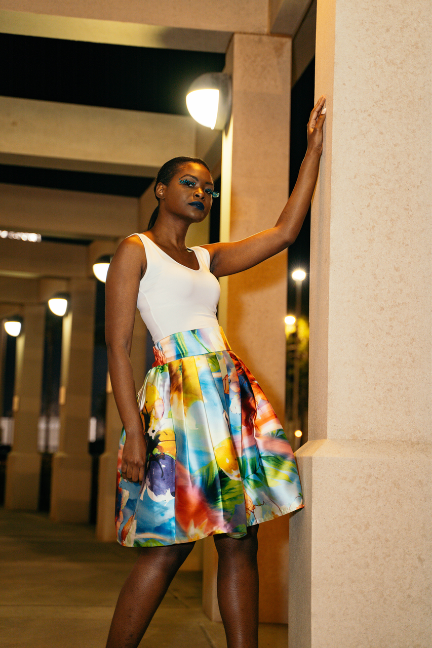 Paint the Town Midi Skirt - XS, SMALL & MEDIUM - Latina Power