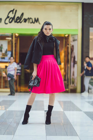 A-Line Classic Business Queen Skirt - PINK | XS & SMALL - Power Latina