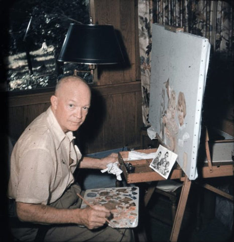 President Dwight Eisenhower used to do paint a picture with number