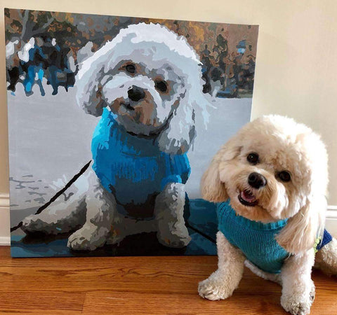 Custom paint by number dog