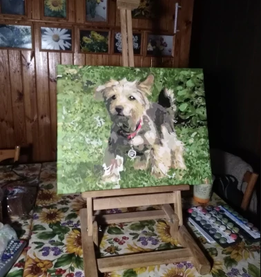 painting by numbers dogs