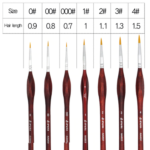 7pcs Detail Paint Brush Set for paint by numbers