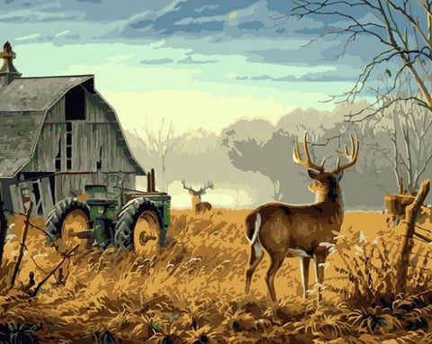 Deer on Farm - Animals Paint By Numbers