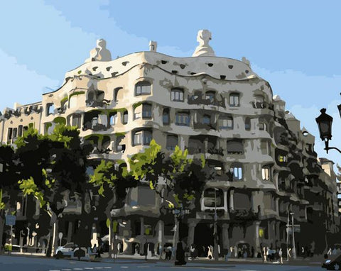 Casa Mila Barcelona - Cities Paint By Numbers