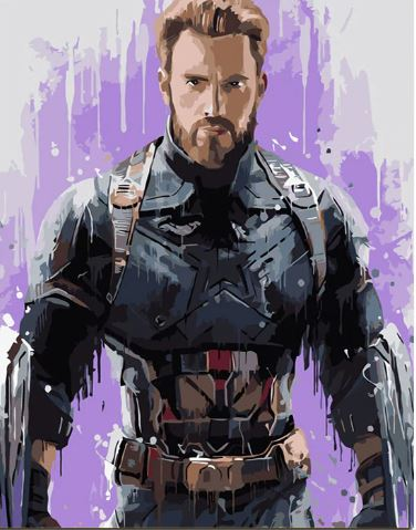 Captain America - People Paint By Numbers