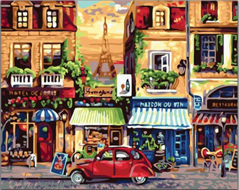 Nostalgic Paris - Cities Paint By Numbers