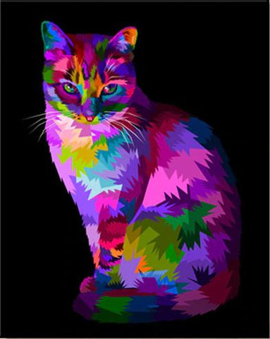 Colour Cat - Animals Paint By Numbers