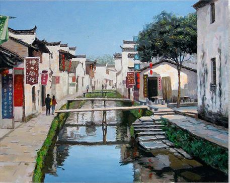 Chinese Village - Cities Paint By Numbers