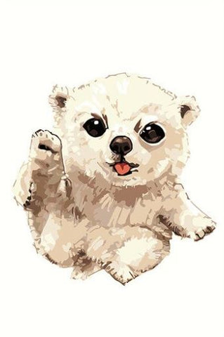 Cute Polar Bear- Animals Paint By Numbers