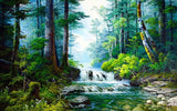Small Waterfall - Landscape Paint By Numbers