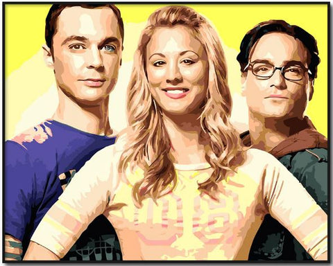 Big Bang Theory- People Paint By Numbers