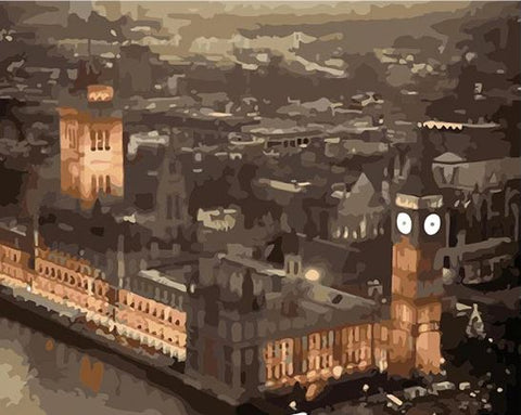 Houses of Parliament in London - Cities Paint By Numbers