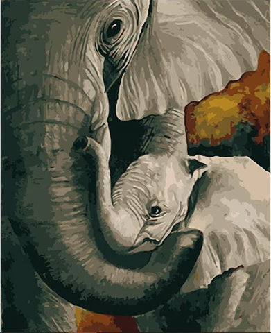 Elephant Mother - Animals Paint By Numbers