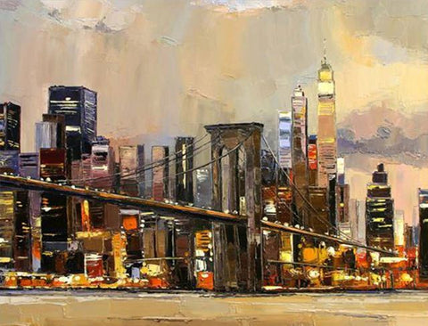 Brooklyn Bridge At Night - Cities Paint By Numbers