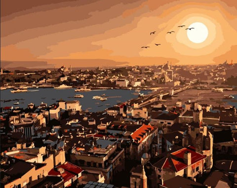 Galata Bridge Istanbul - Cities Paint By Numbers