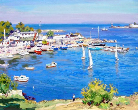 Blue Seaport- Landscape Paint By Numbers