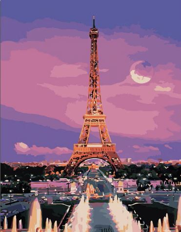 Sunset at Paris  - Cities Paint By Numbers