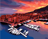 Fontvieille Harbour Monaco- Cities Paint By Numbers