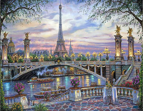 The River of Paris  - Cities Paint By Numbers