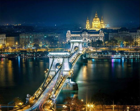 Budapest at Night - Cities Paint By Numbers