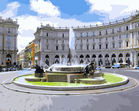 Piazza Della Repubblica, Rome - Cities Paint By Numbers