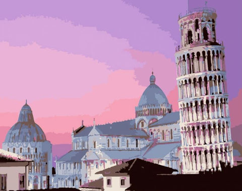 Leaning Tower of Pisa - Cities Paint By Numbers