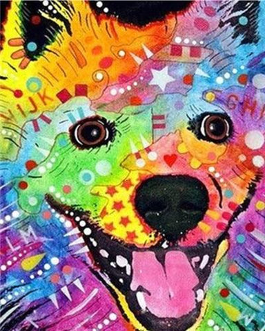 Colorful Golden Retriever Dog- Animals Paint By Numbers