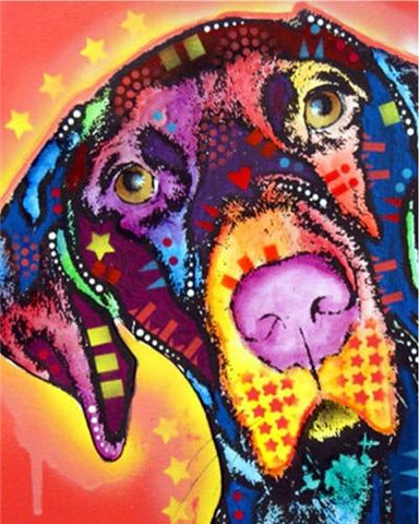 Multicolored Hound Dog - Animals Paint By Numbers