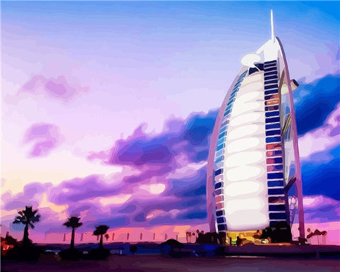 Burj Al Arab Dubai - Cities Paint By Numbers